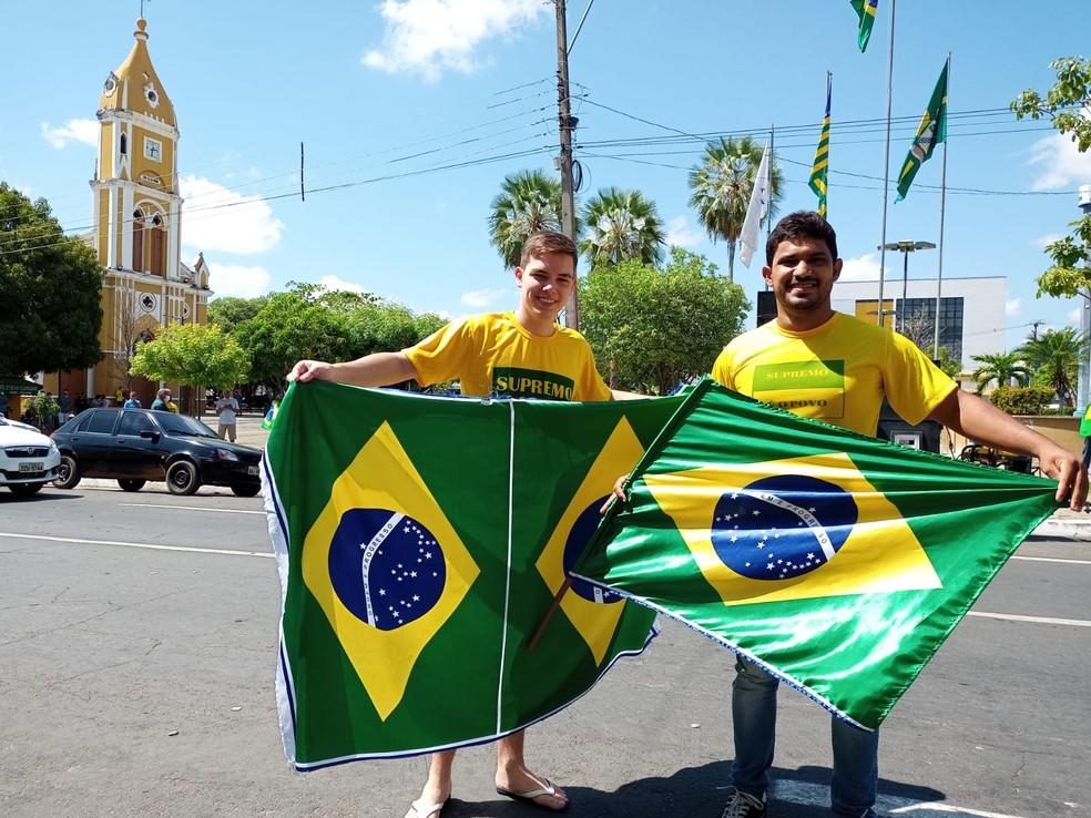7 de Setembro: cidade de Floriano tem protestos em apoio ao governo Jair Bolsonaro — Foto: Aparecida Santana/TV Clube