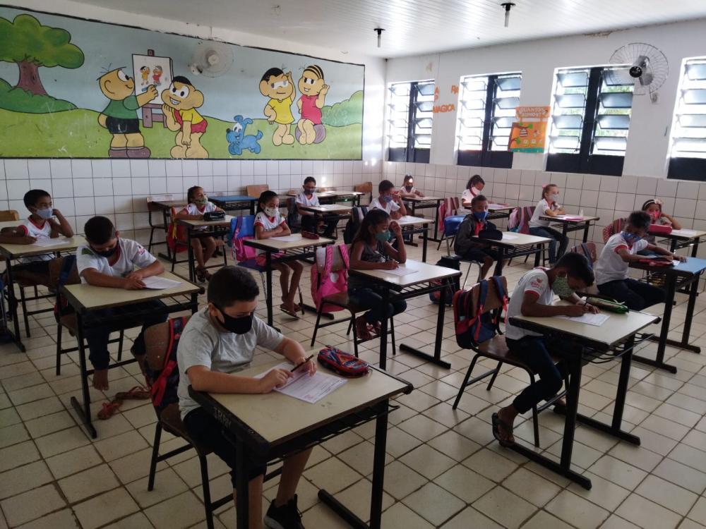 Escola reformada na localidade Formosa em pleno funcionamento