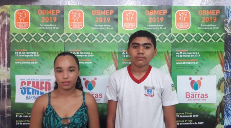 Jovens barrenses ganham medalha de prata e bronze em olimpíadas nacional de Matemática